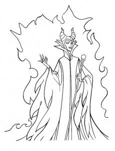 kleurplaat Maleficent (7)