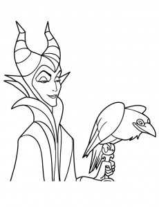 kleurplaat Maleficent (8)