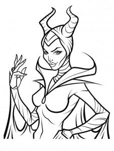 kleurplaat Maleficent (9)