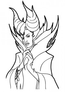 kleurplaat Maleficent