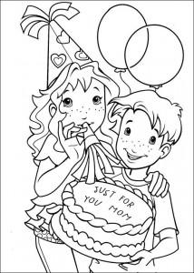 раскраска Мамины день рождения