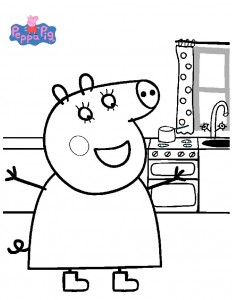 coloring page Mama by Peppa
