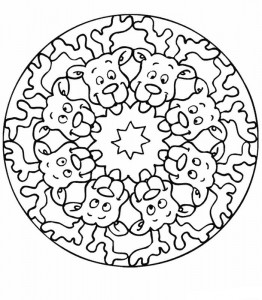 coloring page Mandala rein