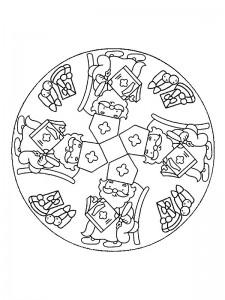 kleurplaat Mandala Sinterklaas (1)