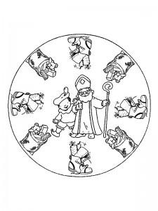 kleurplaat Mandala Sinterklaas (2)