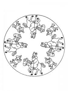 kleurplaat Mandala Sinterklaas