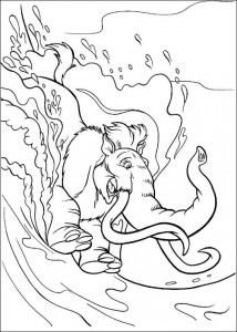 coloring page Manny body surf