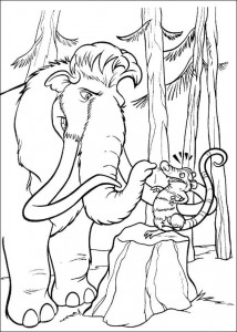 coloring page Manny and Crash