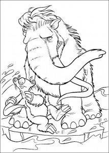 coloring page Manny and Sid (1)