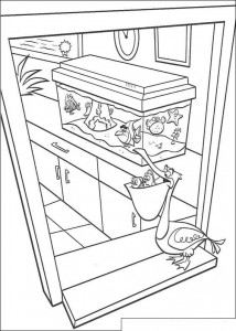 coloring page Marlin and Dory at the dentist