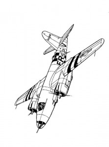 раскраска Martin B-26C Марандер 1944