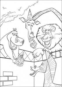 boyama sayfa Marty zebra'nın doğum günü