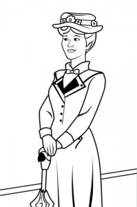 coloring page Mary Poppins (2)