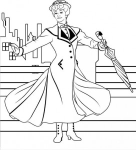 coloring page Mary Poppins (5)