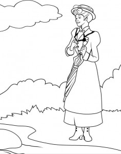 coloring page Mary Poppins (6)