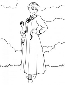 coloring page Mary Poppins (7)