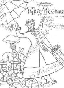 målarbok Mary Poppins