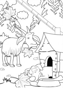 coloring page Mascha and bear (1)