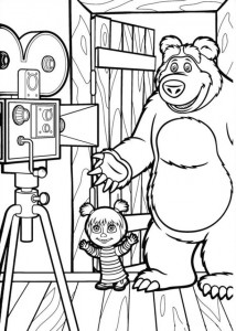 coloring page Mascha and bear (10)