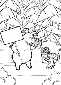 coloring page Mascha and bear (11)