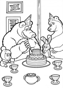 coloring page Mascha and bear (12)