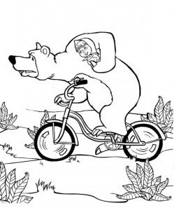 coloring page Mascha and bear (13)
