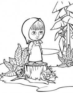coloring page Mascha and bear (14)