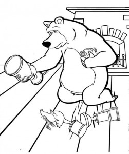 coloring page Mascha and bear (15)