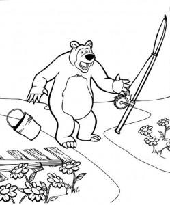 coloring page Mascha and bear (16)