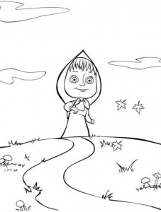 coloring page Mascha and bear (19)