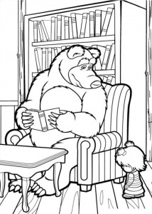 coloring page Mascha and bear (2)