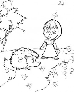 coloring page Mascha and bear (20)