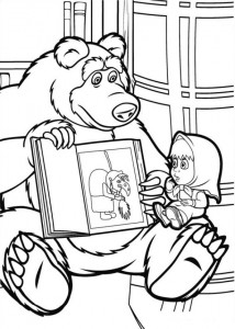 coloring page Mascha and bear (21)
