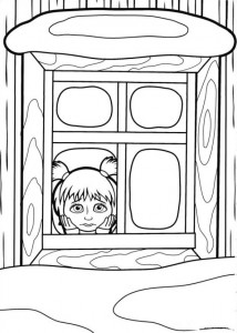 coloring page Mascha and bear (22)