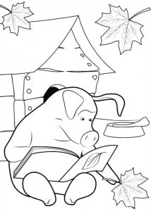 coloring page Mascha and bear (23)