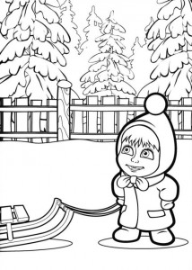 coloring page Mascha and bear (24)