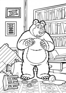coloring page Mascha and bear (25)