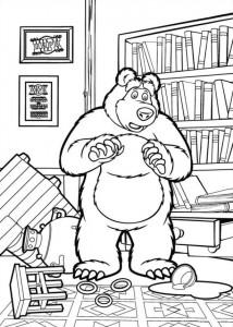målarbok Mascha och björn (25)