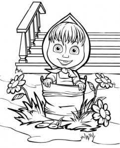 coloring page Mascha and bear (26)