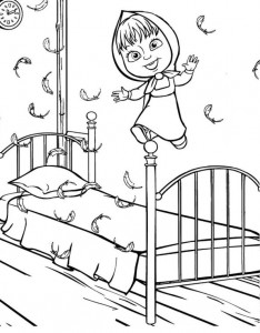 coloring page Mascha and bear (27)