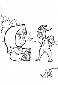 coloring page Mascha and bear (28)