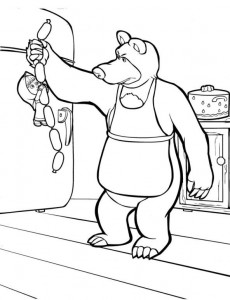 coloring page Mascha and bear (36)