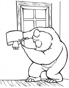 coloring page Mascha and bear (37)