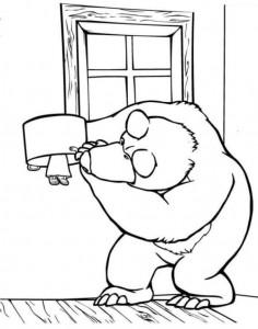 målarbok Mascha och björn (37)