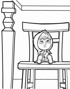 coloring page Mascha and bear (38)