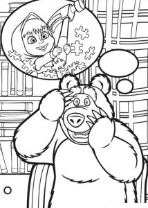 coloring page Mascha and bear (4)