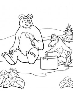 coloring page Mascha and bear (42)