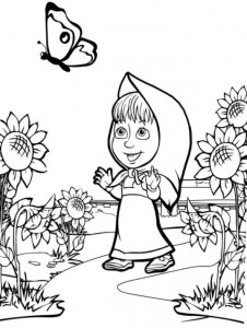 coloring page Mascha and bear (43)