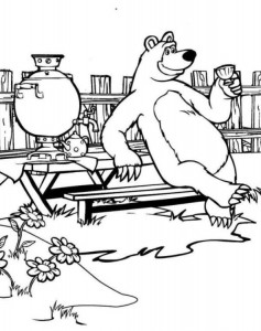 coloring page Mascha and bear (44)