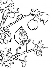 coloring page Mascha and bear (47)
